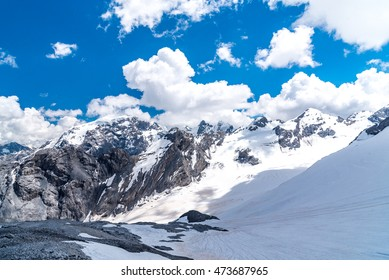 Large view on the high mountains Alps Austria