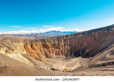 Large volcanic Ubehebe crater in Death Valley national park, California, USA