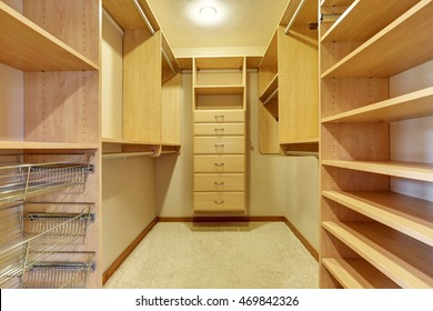 Large Walk In Closet With Hardwood Floor, Also Including Many Shelves And  Drawers. Northwest