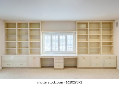 Large wall shelf in a luxury house