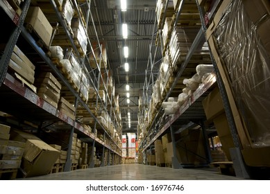 large warehouse perspective