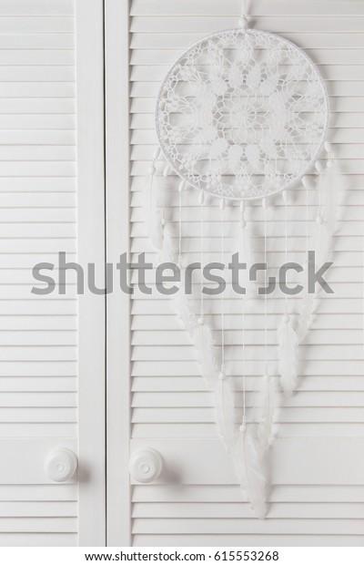 Large White Dream Catcher Bedroom Interior Stock Photo Edit Now 615553268