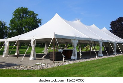 Large white events or wedding tent