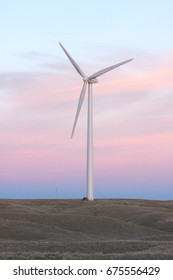 A large wind turbine in western Nebraska.