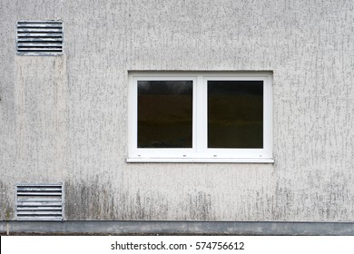 large window in a house wall