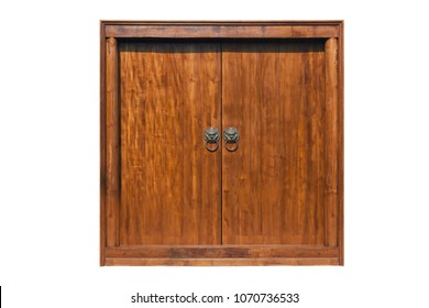 Large wooden door with middle handle.