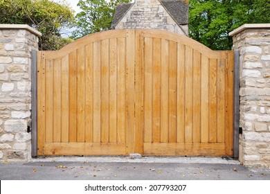 Large Wooden Gateway Background