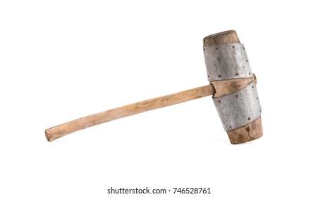 large wooden mallet