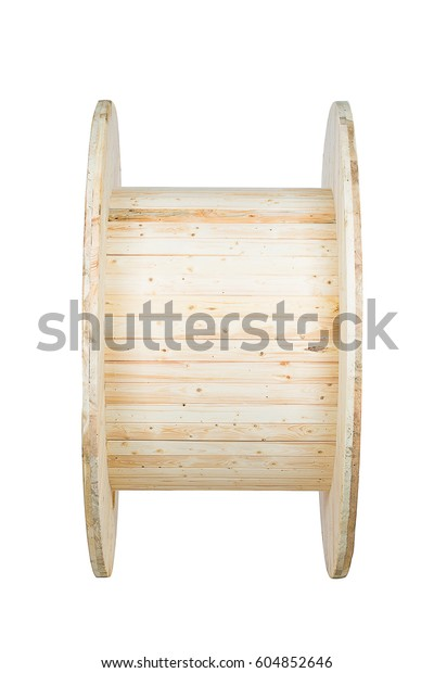 Large Wooden Spools Transport Cables Fibers Stock Photo Edit Now