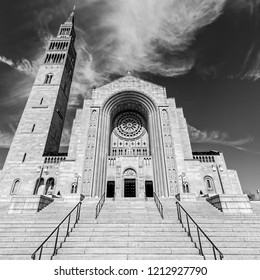 The largest Catholic church in North America, the Basilica of the National Shrine of the Immaculate Conception in Washington, DC.