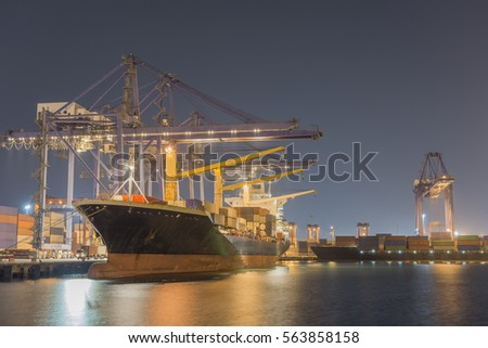 Largest Container Ships Stock Photo (Edit Now) 563858158