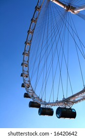 The largest ferris wheel in the world in Singapore.