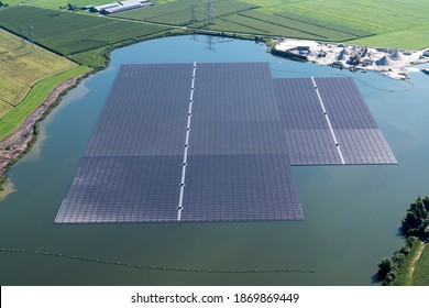 The largest floating solar park farm in Europe, has just been completed in Zwolle, Holland. 72.000 solarpanels float in the water of Bomhofsplas.