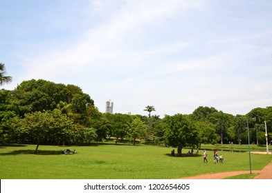 The largest green area of Cidade de Goiania, in Goias State, Brazil