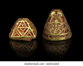 largest hoard of Anglo-Saxon gold ever found, digital edit with reflection