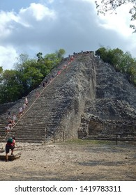 The largest Mayan pyramid in Coba, Mexico called Ixmoja.