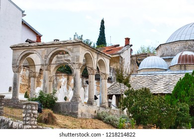 The largest mosque in Mostar is one of Herzegovina's most beautiful. Karadoz Bey Mosque suffered damage during World War II and the Bosnian Warand was renovated in 2000s.