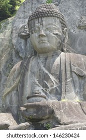 The largest statue of the Buddha Daibutsu in Japan