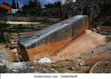 The largest stone in the world is the South Stone. Baalbek. Lebanon.