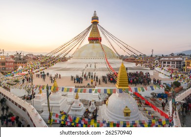 The largest stupa on sunset