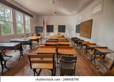 LARGO, FLORIDA - JANUARY 14, 2015 :  Harris School in the Pinellas County Heritage Village. The original schoolhouse was located on Haines Road in St. Petersburg and was used until 1923.