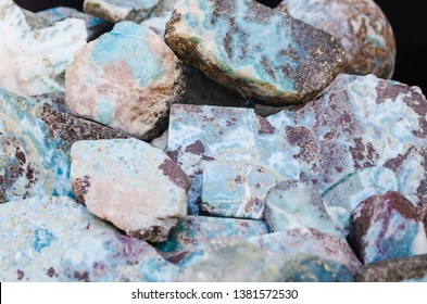 Larimar raw precious stone, which can only be obtained in the Dominican Republic in the Barahona region, is characterized by having turquoise blue tones