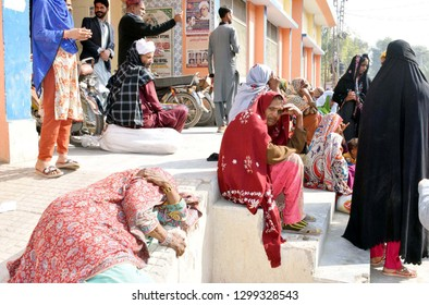 LARKANA, PAKISTAN - JAN 29: Patients are perturbed as the Out Patient Department (OPD) is closed due to strike of Young Doctors Association, at Chandka Medical College on January 29, 2019 in Larkana.