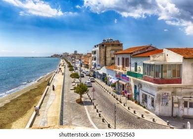 LARNACA, CYPRUS – APRIL 17, 2019: Promenade in Larnaca on a sunny day, Cyprus