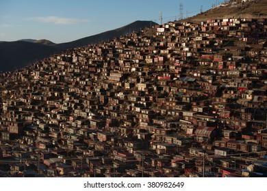 Larung gar(Buddhist Academy) in Sichuan, China
