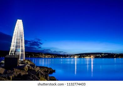 Larvik City By Night