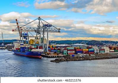 Larvik, Norway. A harbour in Larvik. Taken on 2016/06/17