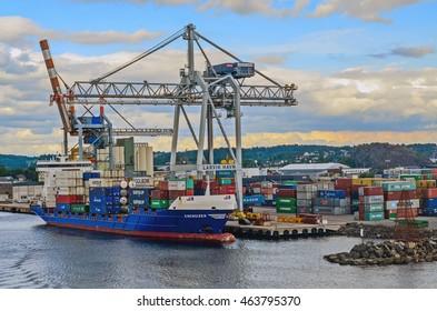 Larvik, Norway. An harbour in Larvik. Taken on 2016/06/17