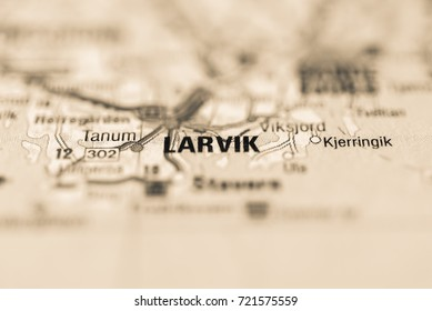 Larvik on map.