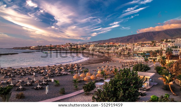 Las Americas beach in Tenerife island - CanarySpain