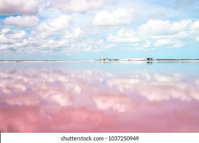 Las Coloradas pink lagoon Yucatan