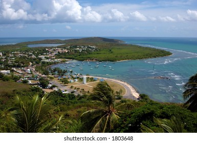 Las Croabas recreational area in Fajardo, Puerto Rico, well known for its beauty and great food.