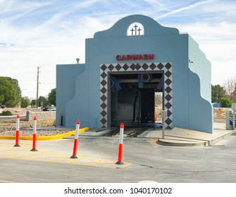 Las Cruces, NM, March 5, 2018: Carwash in Mission Style