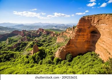 Las Medulas ancient Roman mines, UNESCO, Leon, Spain
