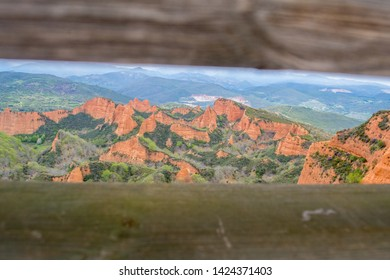 Las Medulas landscape and scenery,  ancient Roman goldmines, 20km southwest of Ponferrada, once served as the main source of gold for the entire Roman Empire
