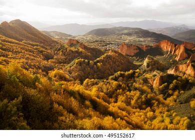 Las Medulas Leon Road to Camino de Santiago in spain