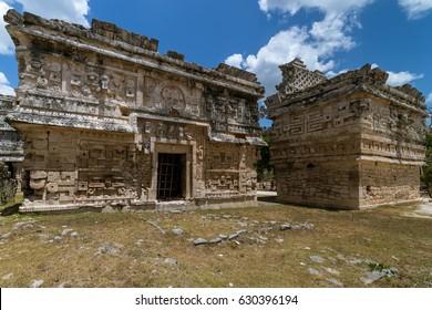 Las Monjas Annex (L) and La Iglesia ('The Church', R), in Chichén Itzá (Mexico)