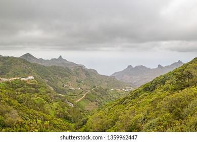 Las Montanas de Anaga. Anaga Natural Park Green Mountains. Tenerife, Spain.