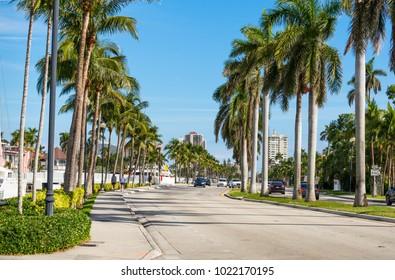 Las Olas Boulevard in Ft. Lauderdale, Florida