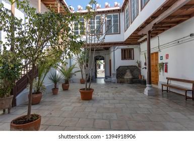 Las Palmas de GC, Spain May, 7 2019. Patio in Vegueta.