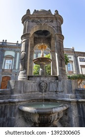 Las Palmas de Gran Canaria, Spain. May, 7 th 2019. Fountain in Vegueta.