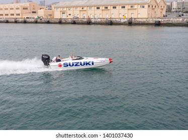 Las Palmas de Gran Canaria, Spain. May, 12 2019. Suzuki exhibition.