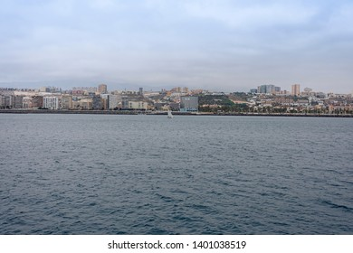 Las Palmas de Gran Canaria, Spain. May, 12 2019. The town from the sea.