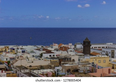 Las Palmas, Gran Canaria, November 2018: Cityscape of the capital of Gran Canaria