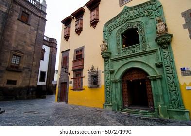 Las Palmas, Gran Canaria, Spain - October, 5th 2016: The Christopher Columbus house museum