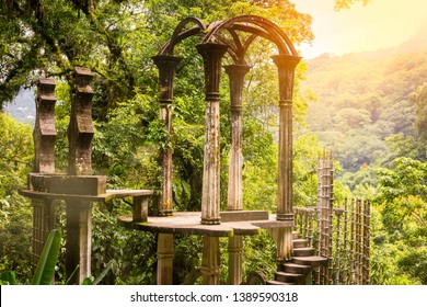 Las Pozas, a surrealist botanical garden in Xilitla Mexico by Edward James.